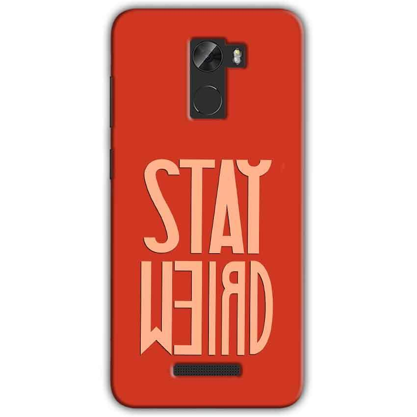 Gionee A1 Lite Mobile Covers Cases Stay Weird - Lowest Price - Paybydaddy.com