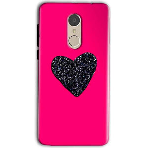 Gionee A1 Mobile Covers Cases Pink Glitter Heart - Lowest Price - Paybydaddy.com
