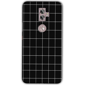 Gionee A1 Plus Mobile Covers Cases Black with White Checks - Lowest Price - Paybydaddy.com
