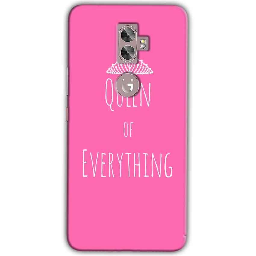 Gionee A1 Plus Mobile Covers Cases Queen Of Everything Pink White - Lowest Price - Paybydaddy.com