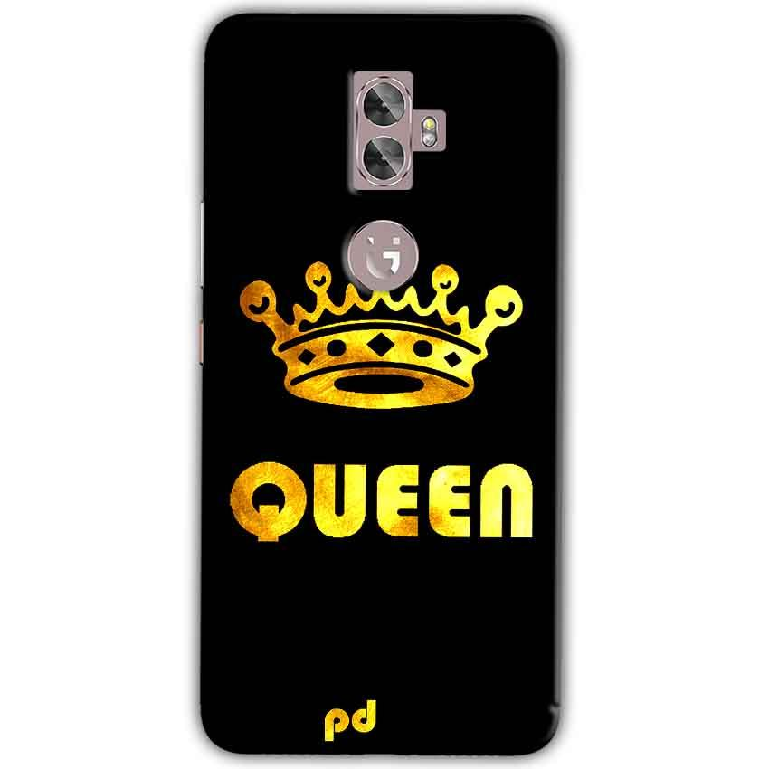 Gionee A1 Plus Mobile Covers Cases Queen With Crown in gold - Lowest Price - Paybydaddy.com