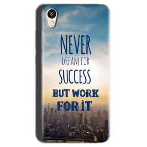 Gionee F103 Mobile Covers Cases Never Dreams For Success But Work For It Quote - Lowest Price - Paybydaddy.com
