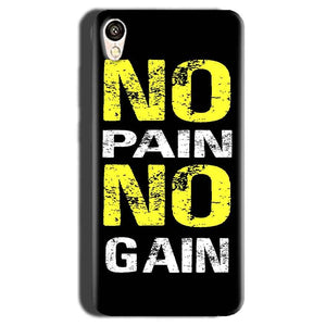 Gionee F103 Mobile Covers Cases No Pain No Gain Yellow Black - Lowest Price - Paybydaddy.com