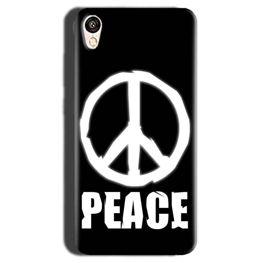 Gionee F103 Mobile Covers Cases Peace Sign In White - Lowest Price - Paybydaddy.com
