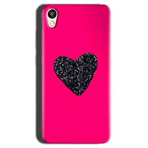 Gionee F103 Mobile Covers Cases Pink Glitter Heart - Lowest Price - Paybydaddy.com