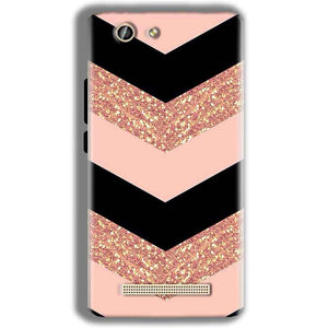 Gionee F103 Pro Mobile Covers Cases Black down arrow Pattern - Lowest Price - Paybydaddy.com