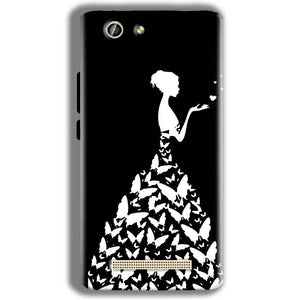 Gionee F103 Pro Mobile Covers Cases Butterfly black girl - Lowest Price - Paybydaddy.com