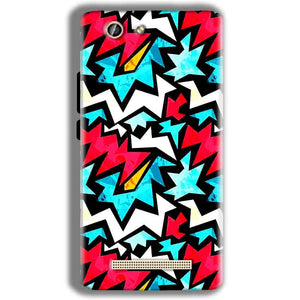Gionee F103 Pro Mobile Covers Cases Colored Design Pattern - Lowest Price - Paybydaddy.com