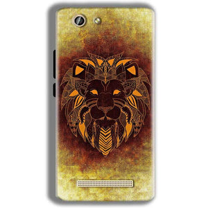 Gionee F103 Pro Mobile Covers Cases Lion face art - Lowest Price - Paybydaddy.com