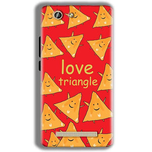 Gionee F103 Pro Mobile Covers Cases Love Triangle - Lowest Price - Paybydaddy.com