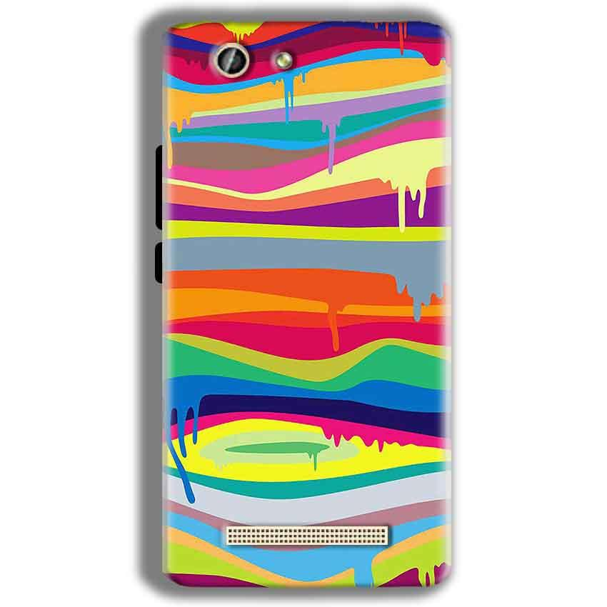 Gionee F103 Pro Mobile Covers Cases Melted colours - Lowest Price - Paybydaddy.com