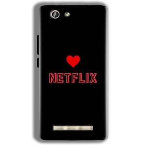 Gionee F103 Pro Mobile Covers Cases NETFLIX WITH HEART - Lowest Price - Paybydaddy.com