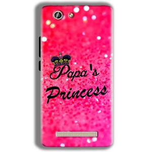 Gionee F103 Pro Mobile Covers Cases PAPA PRINCESS - Lowest Price - Paybydaddy.com