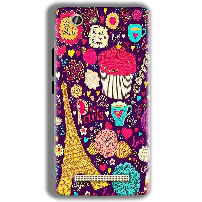 Gionee F103 Pro Mobile Covers Cases Paris Sweet love - Lowest Price - Paybydaddy.com