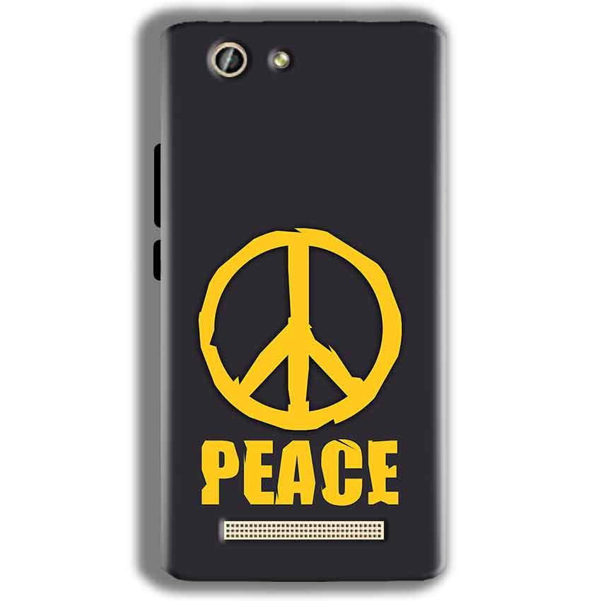 Gionee F103 Pro Mobile Covers Cases Peace Blue Yellow - Lowest Price - Paybydaddy.com