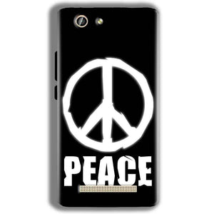 Gionee F103 Pro Mobile Covers Cases Peace Sign In White - Lowest Price - Paybydaddy.com