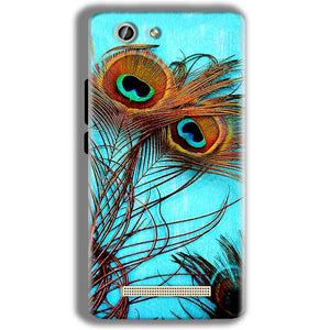 Gionee F103 Pro Mobile Covers Cases Peacock blue wings - Lowest Price - Paybydaddy.com