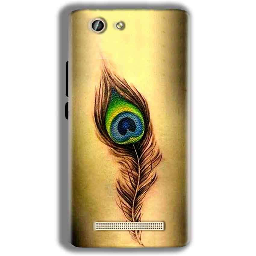 Gionee F103 Pro Mobile Covers Cases Peacock coloured art - Lowest Price - Paybydaddy.com