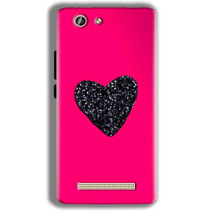 Gionee F103 Pro Mobile Covers Cases Pink Glitter Heart - Lowest Price - Paybydaddy.com