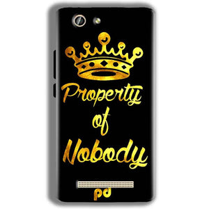 Gionee F103 Pro Mobile Covers Cases Property of nobody with Crown - Lowest Price - Paybydaddy.com