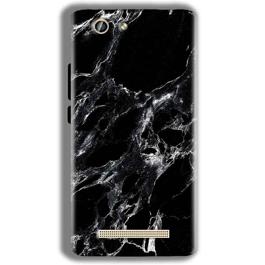 Gionee F103 Pro Mobile Covers Cases Pure Black Marble Texture - Lowest Price - Paybydaddy.com