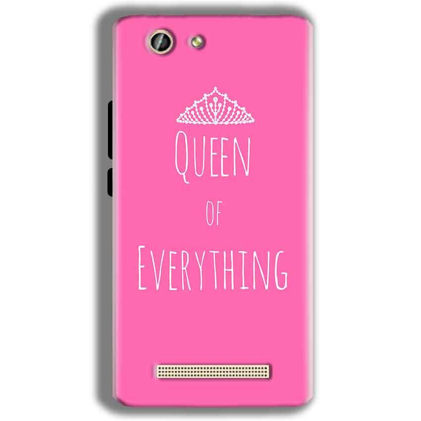 Gionee F103 Pro Mobile Covers Cases Queen Of Everything Pink White - Lowest Price - Paybydaddy.com