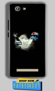 Gionee F103 Pro Mobile Covers Cases Shiva Aghori Smoking - Lowest Price - Paybydaddy.com