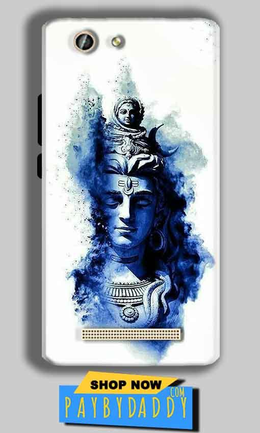 Gionee F103 Pro Mobile Covers Cases Shiva Blue White - Lowest Price - Paybydaddy.com