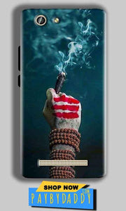 Gionee F103 Pro Mobile Covers Cases Shiva Hand With Clilam - Lowest Price - Paybydaddy.com
