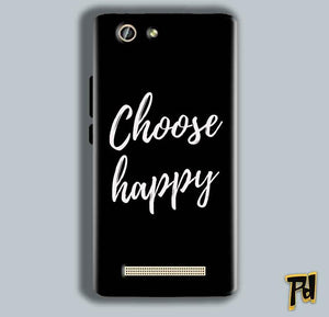 Gionee F103 Pro Mobile Covers Cases Choose happy - Lowest Price - Paybydaddy.com