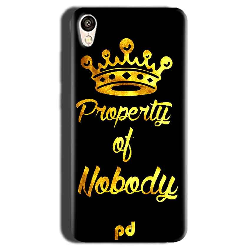 Gionee F103 Mobile Covers Cases Property of nobody with Crown - Lowest Price - Paybydaddy.com