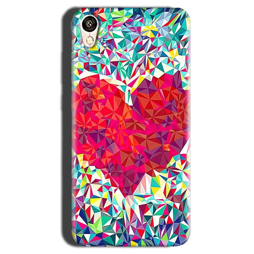Gionee F103 Mobile Covers Cases heart Prisma design - Lowest Price - Paybydaddy.com