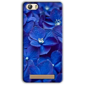 Gionee M5 Lite Mobile Covers Cases Blue flower - Lowest Price - Paybydaddy.com