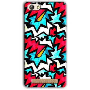 Gionee M5 Lite Mobile Covers Cases Colored Design Pattern - Lowest Price - Paybydaddy.com