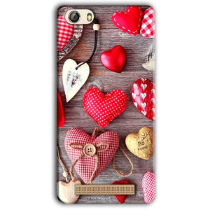 Gionee M5 Lite Mobile Covers Cases Hearts- Lowest Price - Paybydaddy.com