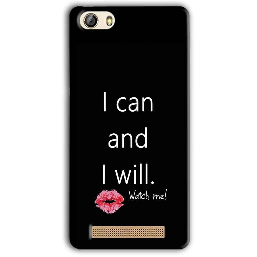 Gionee M5 Lite Mobile Covers Cases i can and i will Lips - Lowest Price - Paybydaddy.com