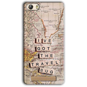 Gionee M5 Lite Mobile Covers Cases Live Travel Bug - Lowest Price - Paybydaddy.com