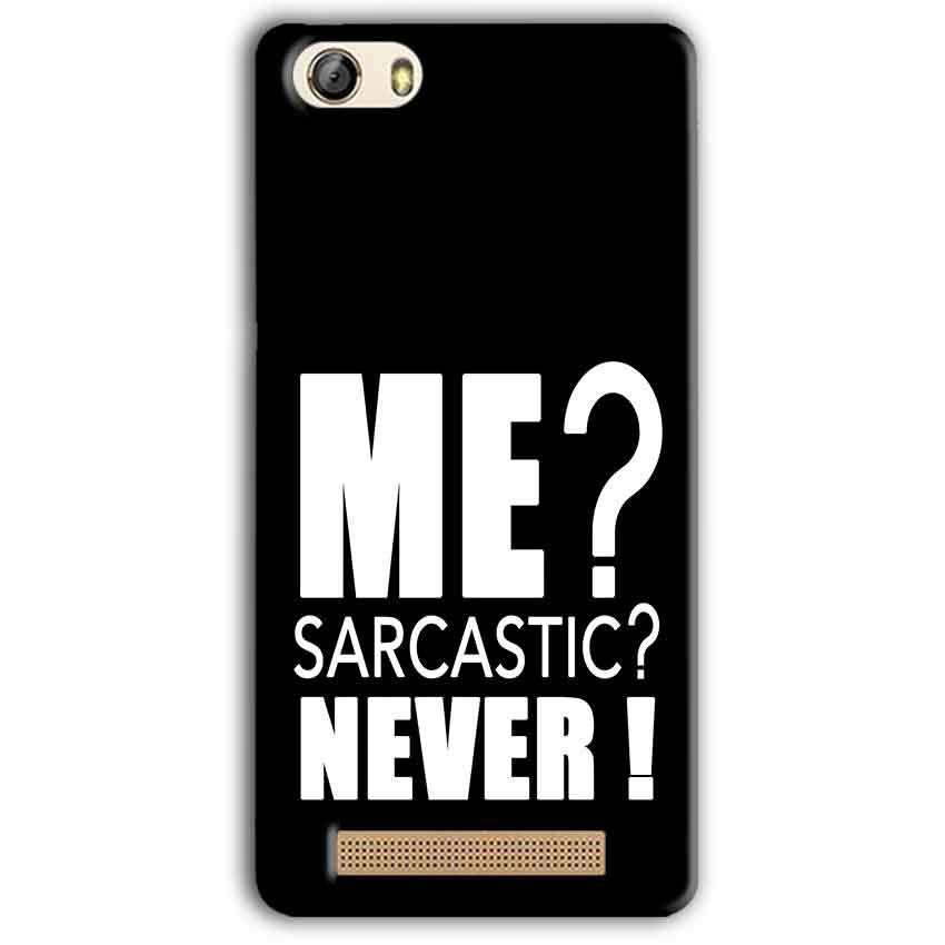Gionee M5 Lite Mobile Covers Cases Me sarcastic - Lowest Price - Paybydaddy.com