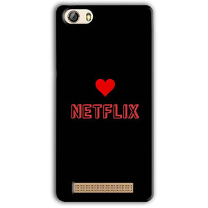 Gionee M5 Lite Mobile Covers Cases NETFLIX WITH HEART - Lowest Price - Paybydaddy.com