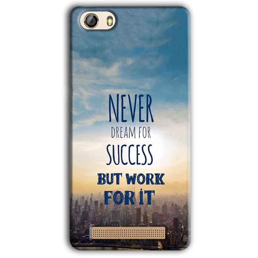 Gionee M5 Lite Mobile Covers Cases Never Dreams For Success But Work For It Quote - Lowest Price - Paybydaddy.com