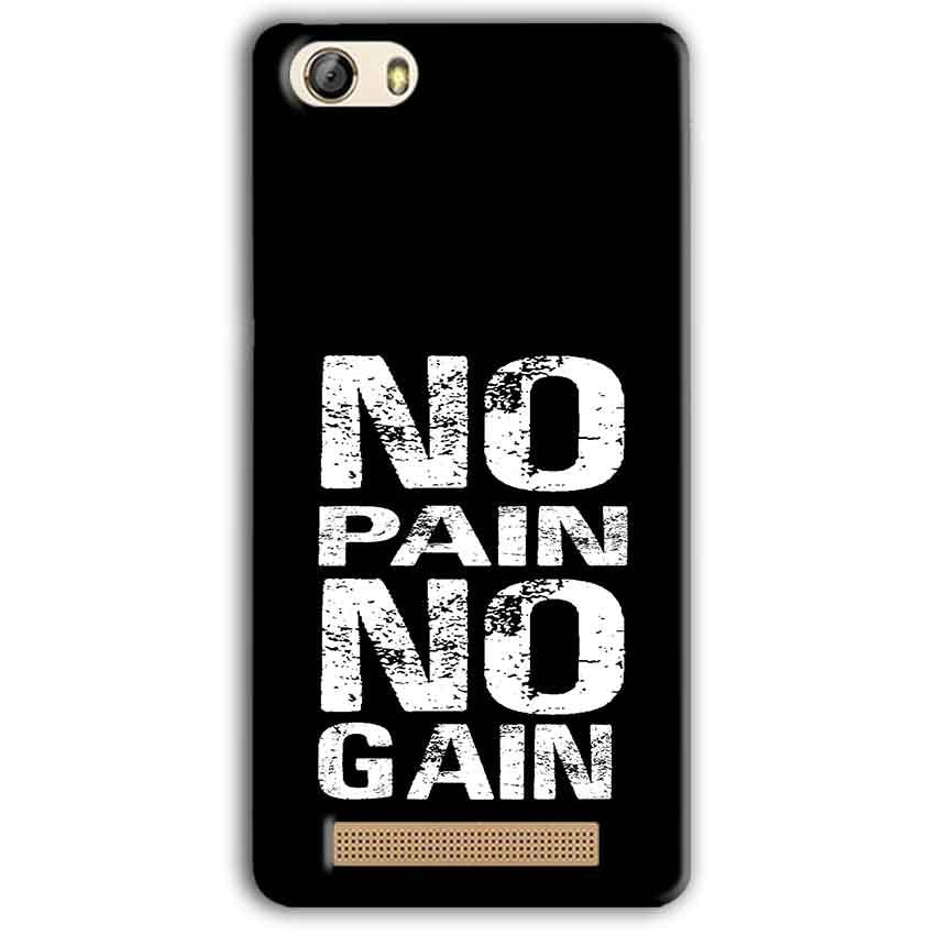 Gionee M5 Lite Mobile Covers Cases No Pain No Gain Black And White - Lowest Price - Paybydaddy.com