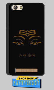 Gionee M5 Lite Mobile Covers Cases Om Namaha Gold Black - Lowest Price - Paybydaddy.com