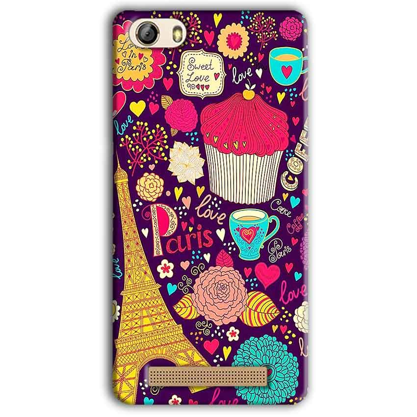 Gionee M5 Lite Mobile Covers Cases Paris Sweet love - Lowest Price - Paybydaddy.com
