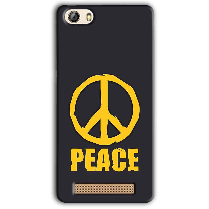 Gionee M5 Lite Mobile Covers Cases Peace Blue Yellow - Lowest Price - Paybydaddy.com