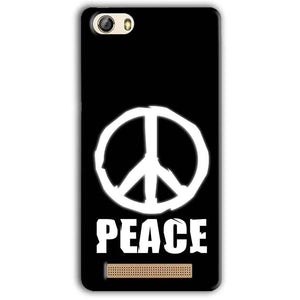 Gionee M5 Lite Mobile Covers Cases Peace Sign In White - Lowest Price - Paybydaddy.com