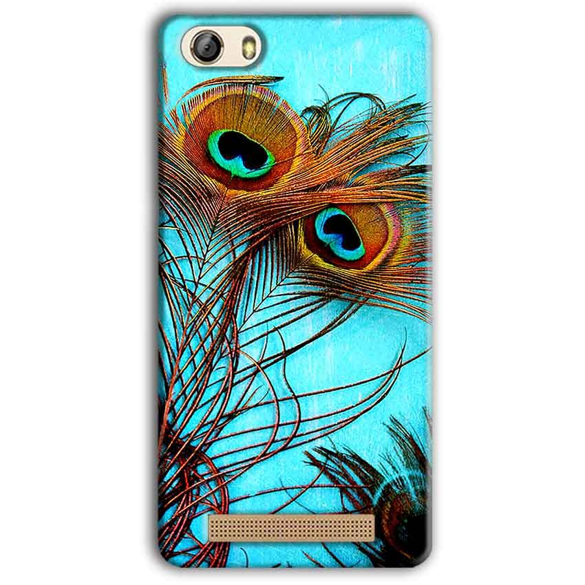 Gionee M5 Lite Mobile Covers Cases Peacock blue wings - Lowest Price - Paybydaddy.com