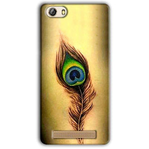 Gionee M5 Lite Mobile Covers Cases Peacock coloured art - Lowest Price - Paybydaddy.com