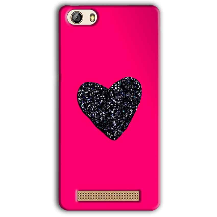 Gionee M5 Lite Mobile Covers Cases Pink Glitter Heart - Lowest Price - Paybydaddy.com