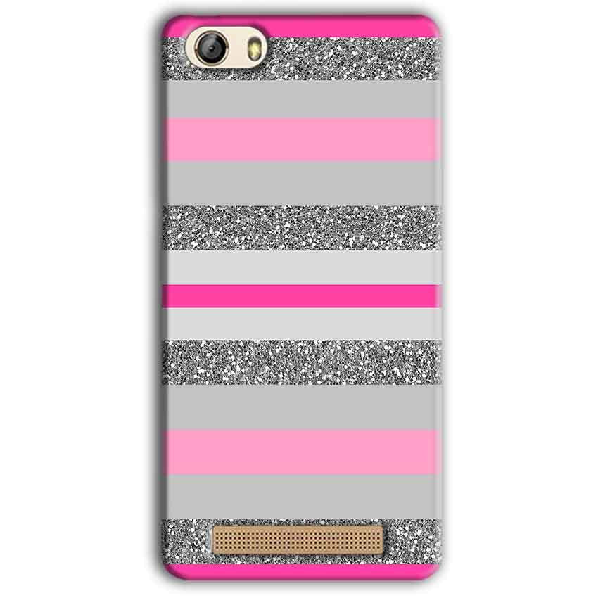 Gionee M5 Lite Mobile Covers Cases Pink colour pattern - Lowest Price - Paybydaddy.com