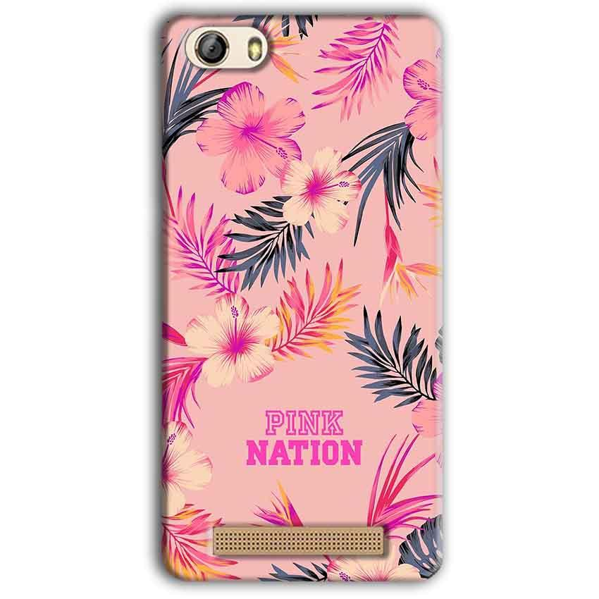 Gionee M5 Lite Mobile Covers Cases Pink nation - Lowest Price - Paybydaddy.com